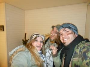 Os militares antes da festa!