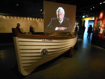 Bote em tamanho real como os utilizados no Titanic